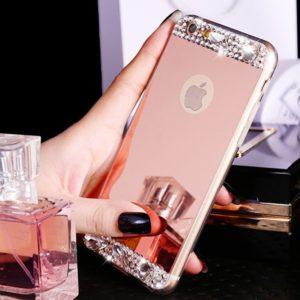 Husa Oglinda cu Strasuri si Cristale iPhone 7 | 8 Rose