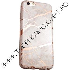 Husa marmura iPhone 7 Plus / 8 Plus White Rose