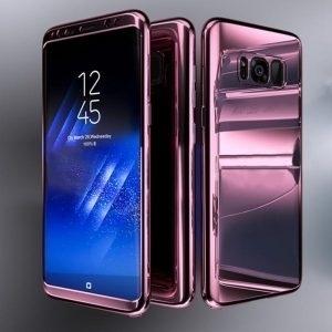 Husa 360 Samsung Galaxy S8 oglinda cu Folie Ecran, Rose