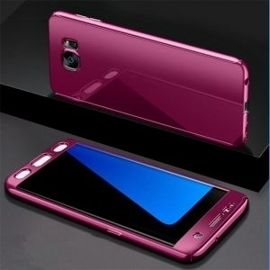 Husa 360 Samsung Galaxy S7 Edge, oglinda, Folie Ecran, Pink