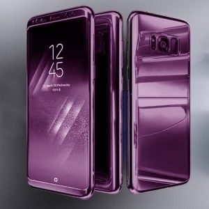 Husa 360 Samsung Galaxy S8 oglinda cu Folie Ecran, Lila