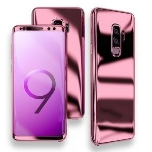 Husa 360 Samsung Galaxy S9 oglinda cu Folie Ecran, Rose