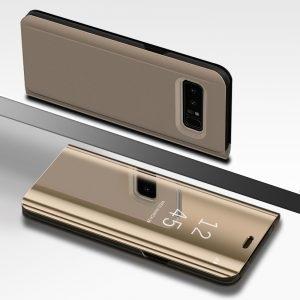 Husa flip 360 Samsung Galaxy S8 oglinda Gold