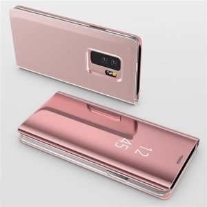 Husa flip 360 Samsung Galaxy S9 Plus oglinda Rose