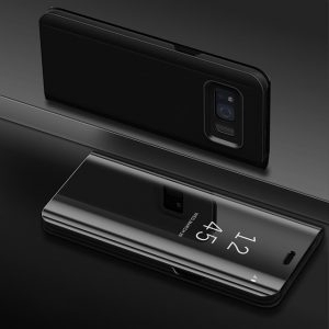 Husa flip carte 360 Samsung Galaxy S8 oglinda Black