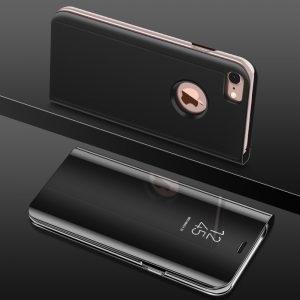Husa flip carte 360 iPhone 7 / 8 Plus oglinda Black