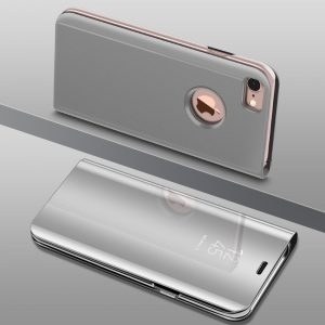 Husa flip carte 360 iPhone 7 / 8 Plus oglinda Silver
