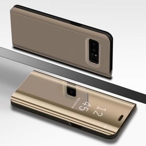 Husa flip 360 Samsung Galaxy S7 Edge oglinda Gold