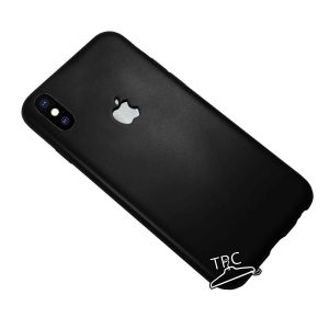 Husa iPhone X cu logo decupat, silicon dens Black