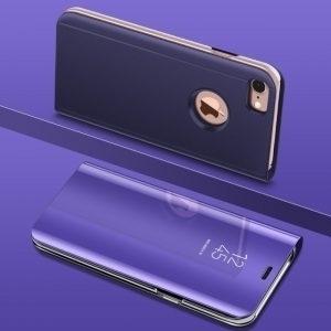 Husa flip carte 360 iPhone 7 / 8 Plus oglinda Mov