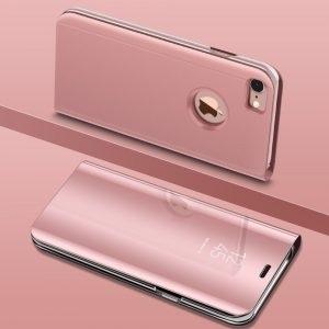 Husa flip carticica iPhone 6 / 6S Plus mirror Rose