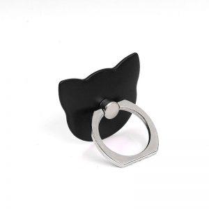 Inel suport telefon universal pisica Black