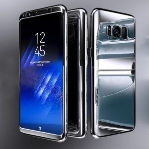 Husa 360 Samsung Galaxy S8 Plus oglinda cu Folie Ecran, Silver