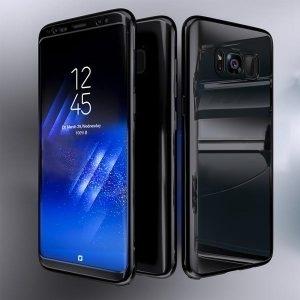 Husa 360 Samsung Galaxy S8 oglinda cu Folie Ecran, Black