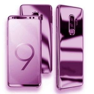 Husa 360 Samsung Galaxy S9 Plus oglinda cu Folie Ecran, Lila