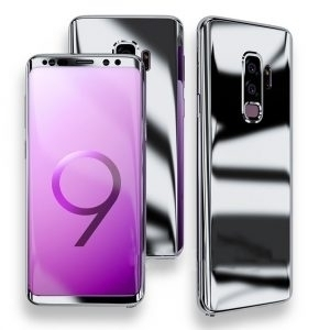 Husa 360 Samsung Galaxy S9 Plus oglinda cu Folie Ecran, Silver