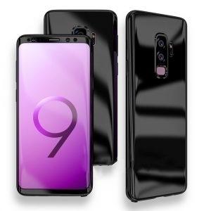 Husa 360 Samsung Galaxy S9 oglinda cu Folie Ecran, Black