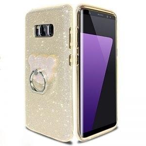 Husa Inel Urechi Minnie si Glitter Samsung Galaxy S8 Plus Gold