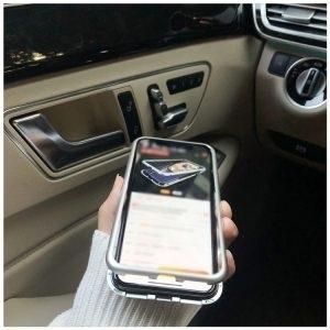 Husa Magnetica iPhone X Bumper si Spate Sticla White