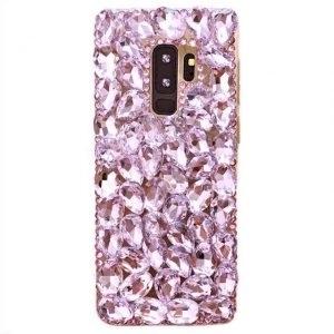 Husa cu pietricele tip Swarovski Samsung Galaxy S9 Plus Rose