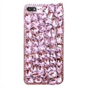 Husa cu pietricele tip cristale Swarovski iPhone 7 / 8 Plus Rose