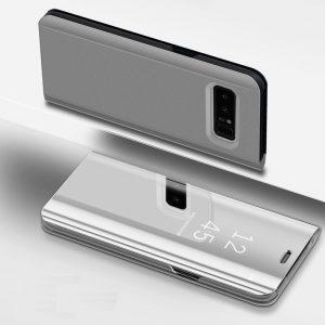 Husa flip 360 Samsung Galaxy S8 PLUS oglinda Silver