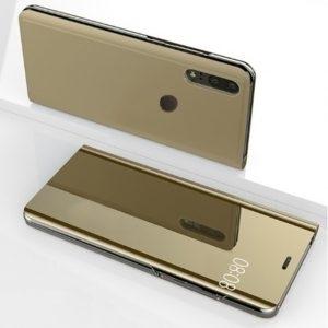 Husa flip carte 360 Huawei P20 LITE oglinda Gold