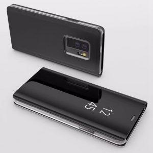 Husa flip carte 360 Samsung Galaxy S9 oglinda Black