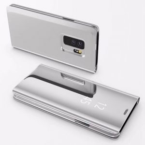 Husa flip carte 360 Samsung Galaxy S9 oglinda Silver