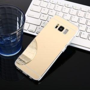 Husa tip oglinda Mirror Samsung Galaxy S8 Gold