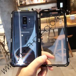 Husa Bumper Magnetic, Spate Sticla Samsung Galaxy S9 Plus Black