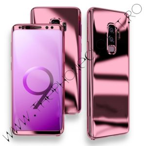 Husa 360 Samsung Galaxy S9 Plus oglinda cu Folie Ecran, Rose
