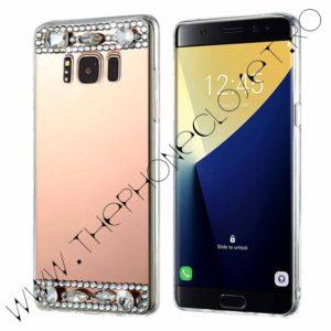 Husa tip oglinda cu cristale Samsung Galaxy S8 Plus Rose