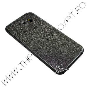 Folie autocolanta pentru fata, spate si laterale Samsung Galaxy S6 edge sclipici Black
