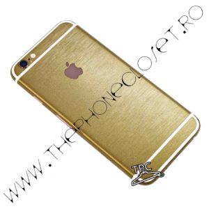 Folie autocolanta pentru fata, spate si laterale iPhone 6 / 6s metalic Gold