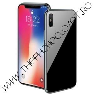 Carcasa Magnetica 360 cu Folie Ecran iPhone X Black
