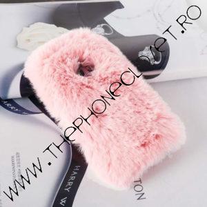 Husa Fluffy cu Blana Samsung Galaxy S9 Pink