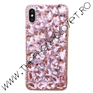 Husa Luxury cristale Swarovski iPhone X XS Roz