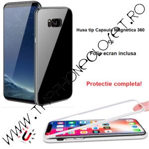 Husa Magnetica 360 Samsung S8 Plus Folie Ecran Black