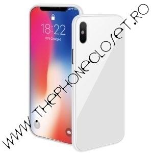 Husa Magnetica 360 cu Folie Ecran iPhone X Alb