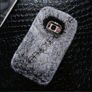 Husa Pufoasa Blanita Samsung Galaxy S7 EDGE Gri