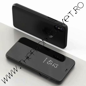 Husa flip carte 360 oglinda iPhone XS MAX Black
