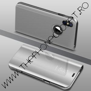Husa flip carticica 360 grade mirror iPhone X XS Silver
