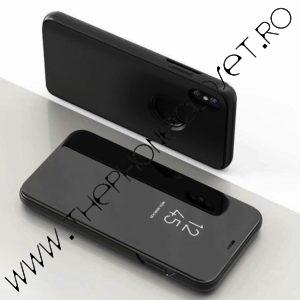 Husa flip carticica 360 grade oglinda iPhone XR Black