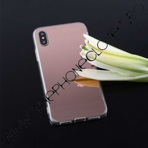 Husa slim tip oglinda mirror iPhone X XS Rose