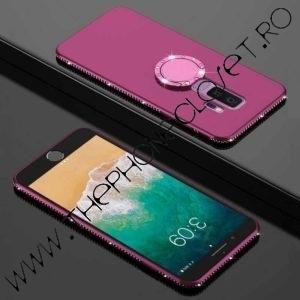 Husa Inel si Cristale Swarovski Samsung S9 Plus Mov