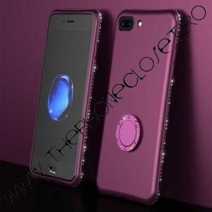 Husa Inel si Cristale Swarovski iPhone 7 / 8 Plus Mov