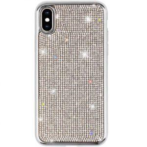 Husa iPhone X XS cu cristale tip Swarovski Silver