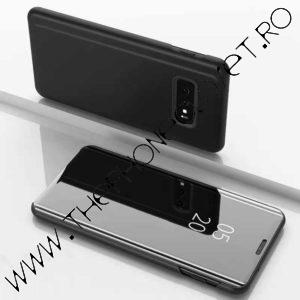 Husa flip carte Samsung Galaxy S10 Plus mirror Black