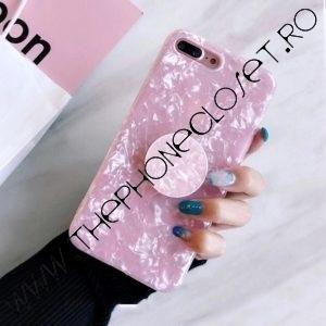 Husa cu Suport Telefon de Degete iPhone 7 / 8 Plus Roz
